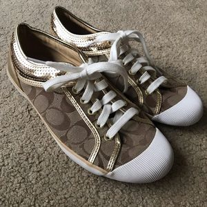 Gold Coach Shoes
